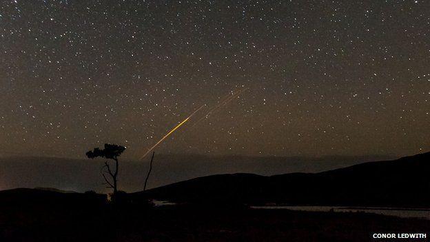 Meteor seen in skies at Maam Cross, Connemara, Ireland
