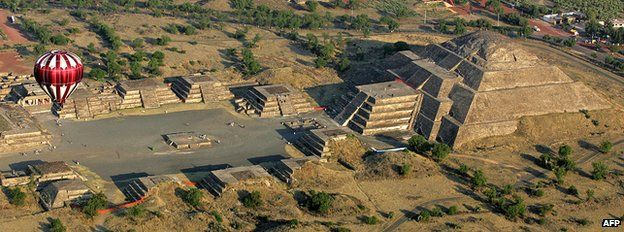 The Moon Pyramid at Teotihuacan, Mexico