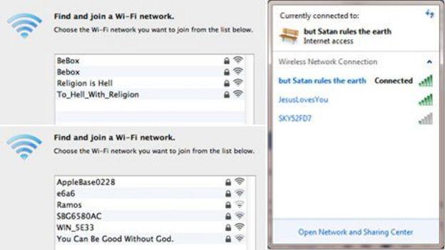 Readers' best passive-aggressive wi-fi names - BBC News