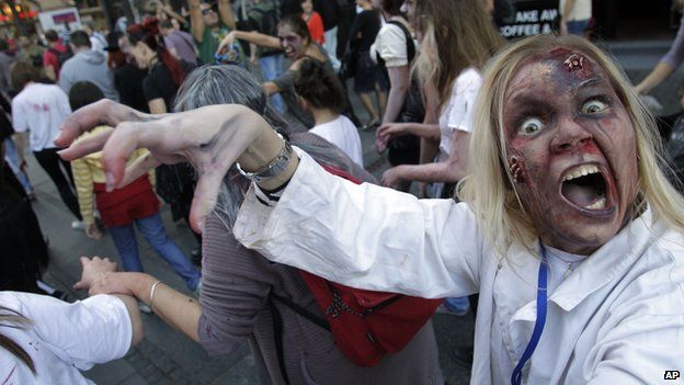 Zombie walk in Belgrade