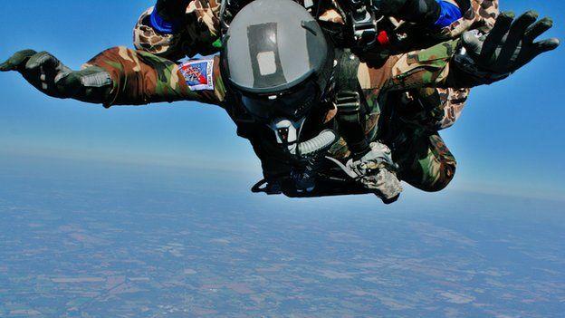 Ray Woodcock skydiving