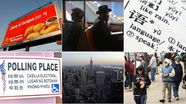 Language in New York montage