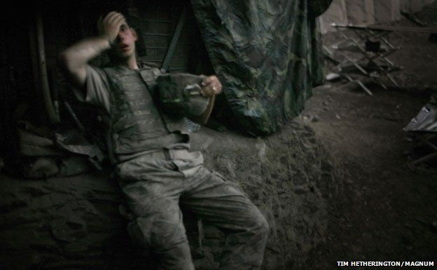 US soldier - Tim Hetherington/Magnum
