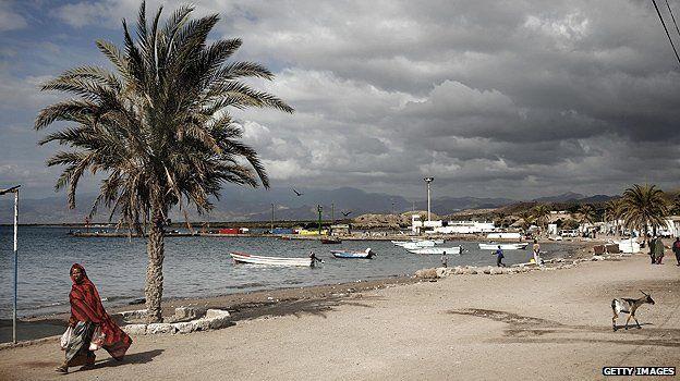 Town of Tadjoura in Djibouti