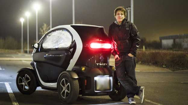 Charlie Fraser drives a Renault Twizy
