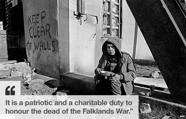 Argentine soldier in the Falklands