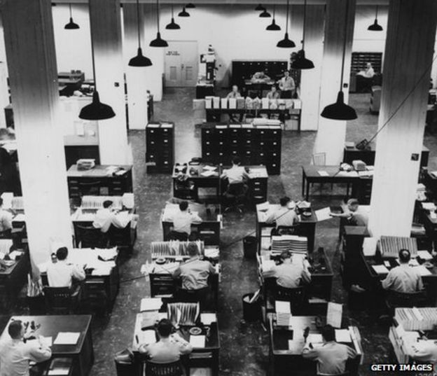 Rows of Pentagon filersThe pleasures and perils of the open plan office   BBC News. Office Design Guidelines Uk. Home Design Ideas