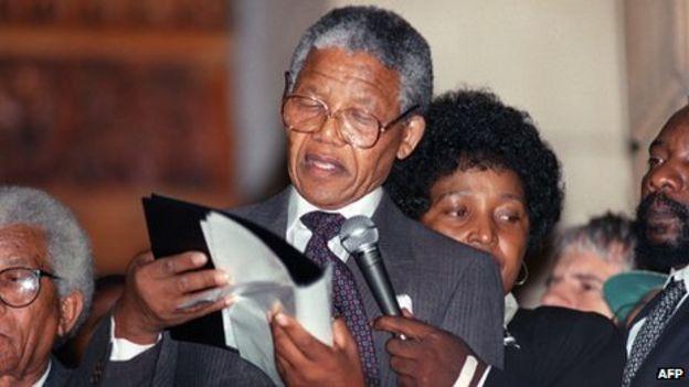 Mandela stammer
