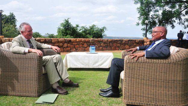 Peter Hain interviewing President Zuma
