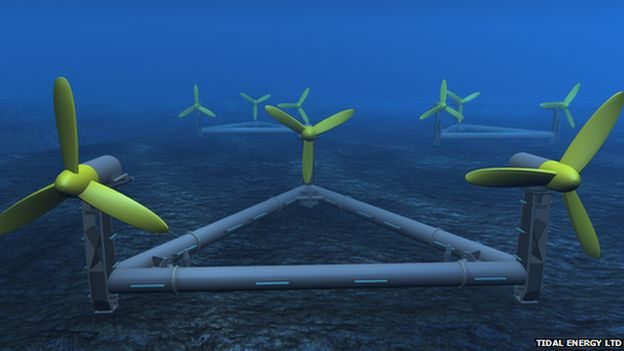 An architect's impression of the seabed generator