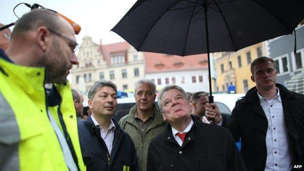 German President Joachim Gauck in Meissen (9 June)