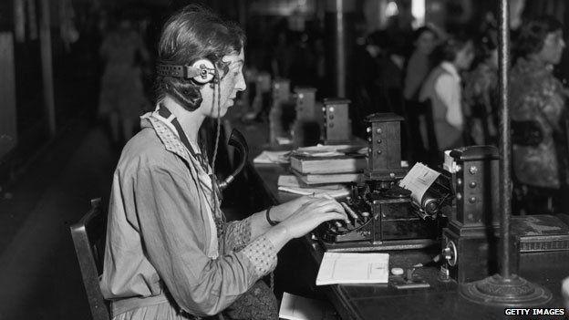 Early telegraph operator
