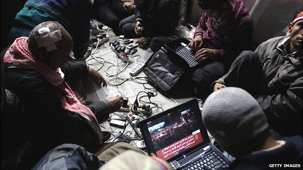 Egyptian revolutionary bloggers in 2011