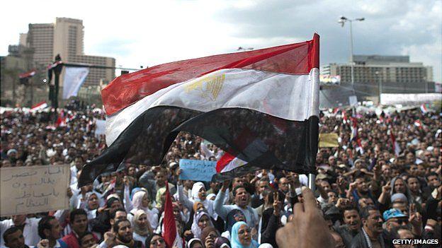 Tahrir Square during the 2011 revolution