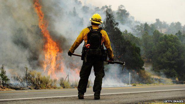 Firefighter in Arizona