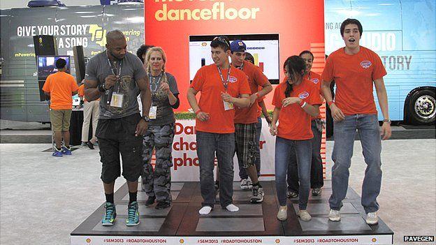Pavegen's floor tiles put through their paces during a dance floor demo session