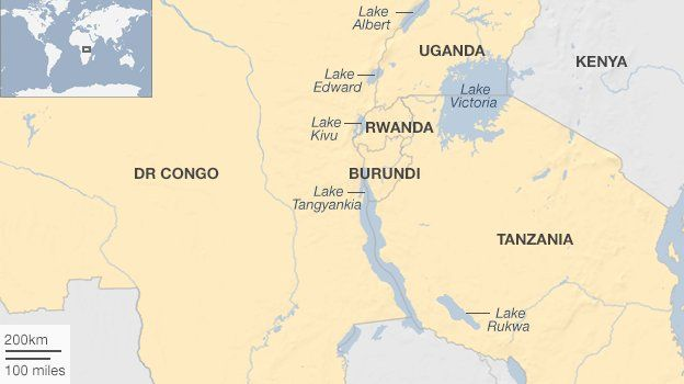 Lakes Of Africa Map.Africa S Great Lakes But Bad Neighbours Bbc News
