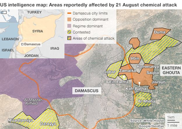 Syria Chemical Attack What We Know BBC News - Us report chemical attack map