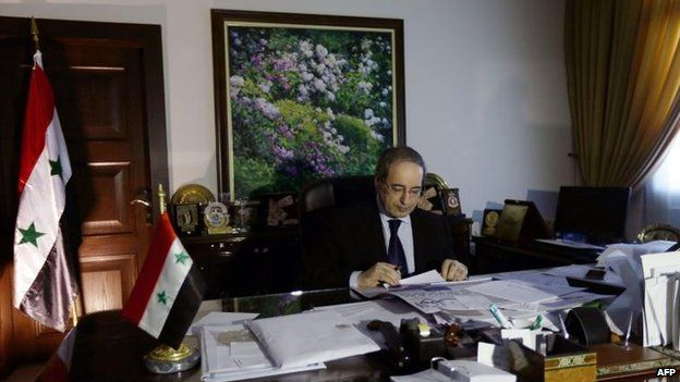 Syrian Deputy Foreign Minister Faisal Mekdad in his office, Damascus (4 September)