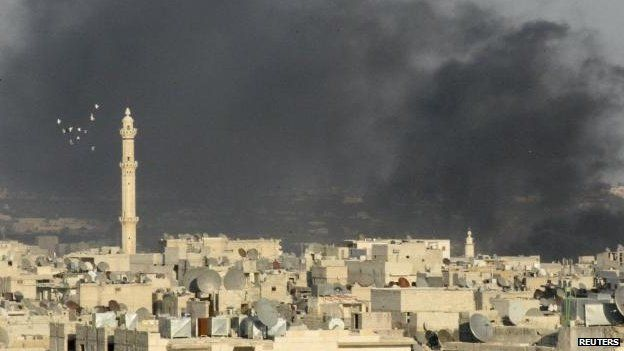 Smoke over Aleppo (4 September)