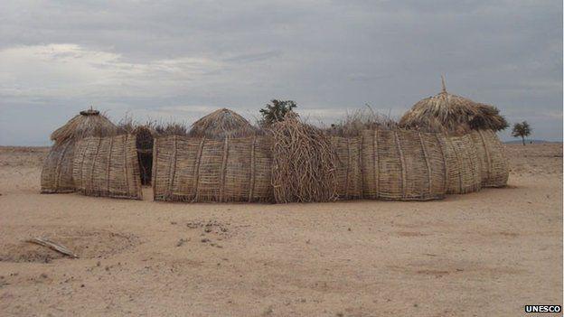 A typical Turkana homestead, Kenya