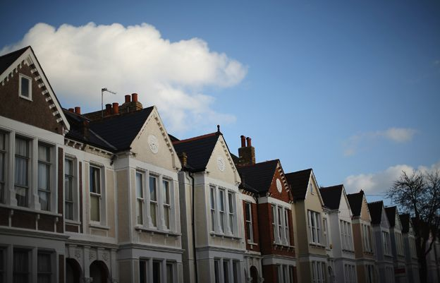 A row of housing