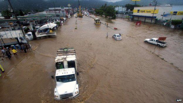 hurricane manual hits mexico