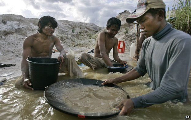 Miners in Kalimantan