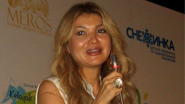 Gulnara Karimova, the first daughter of the Uzbek President speaking at a summer camp of her Fund Forum foundation