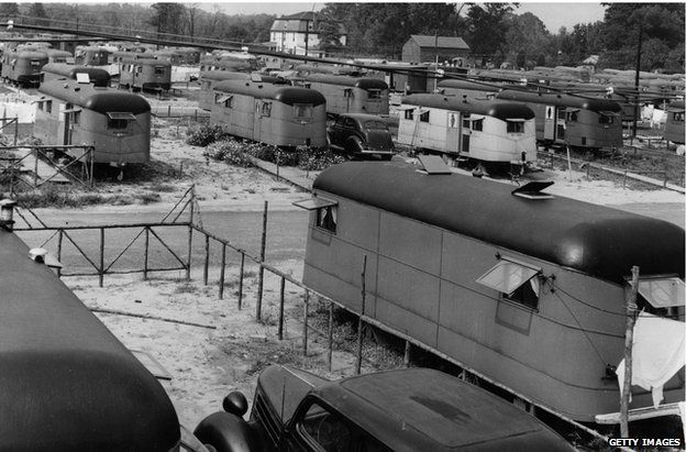 Trailer park in Baltimore in 1943