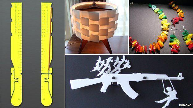 Objects made through Ponoko