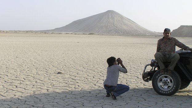 An undated photograph of Chandragup mud volcano in Pakistan.