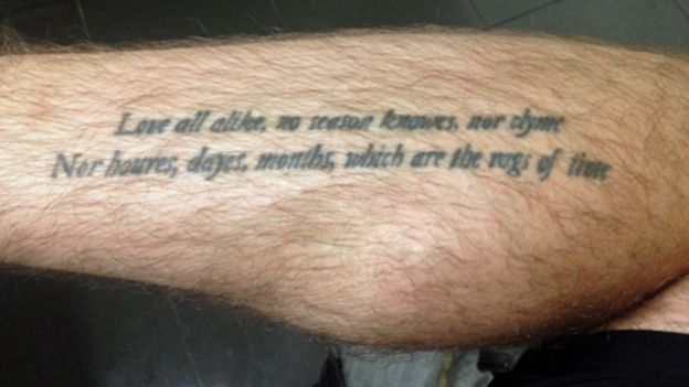 Tattoo Quoting John Donnes The Sun Rising