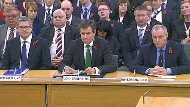 Andrew Parker, John Sawers and Iain Lobban