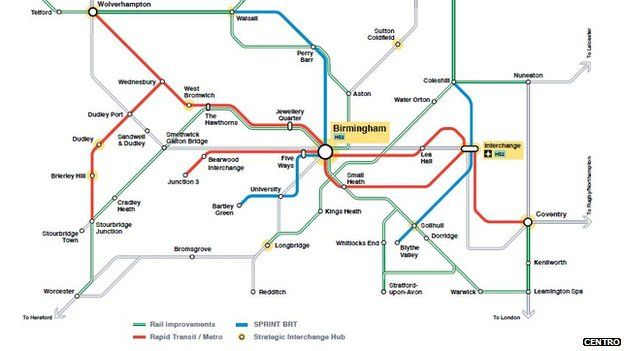 Tram line could link Coventry and Birmingham - BBC News