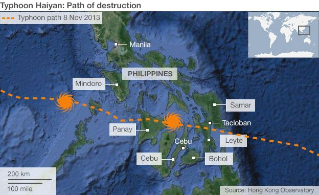 Path of destruction map