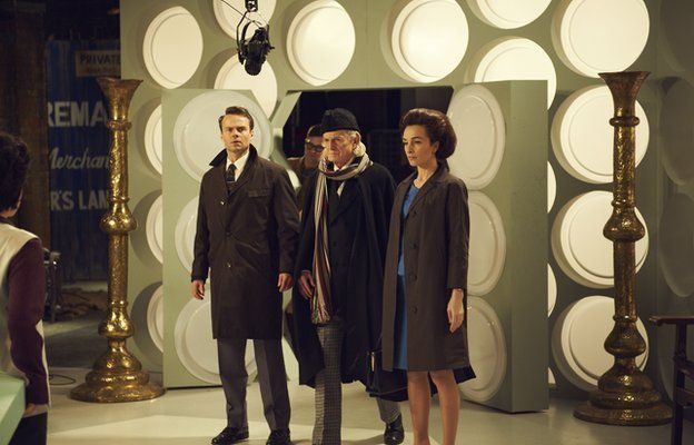 A scene from An Adventure in Space and Time