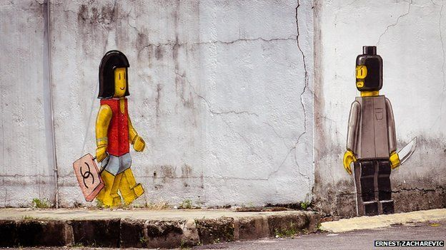 A mural by Ernest Zacharevic in Malaysia