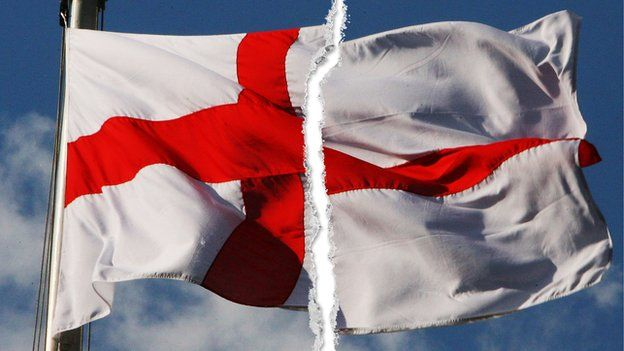 English flag ripped