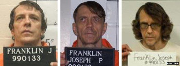 Joseph Paul Franklin in booking photos provided by the Missouri Department of Corrections