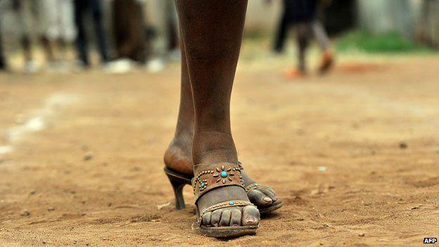A fashion contest in the Korogocho slum, Nairobi