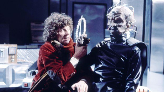 Tom Baker's Doctor meets Davros in Genesis of the Daleks