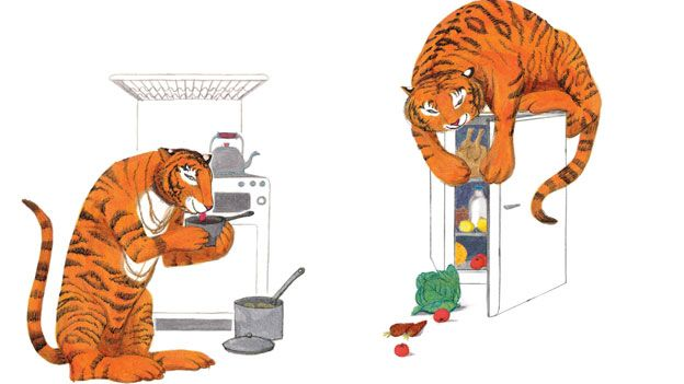 An illustration from the tiger who came to tea