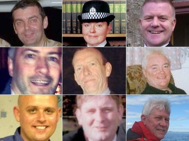Nine victims' pictures