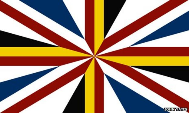 What would the union jack look like if the Scottish bit were ...