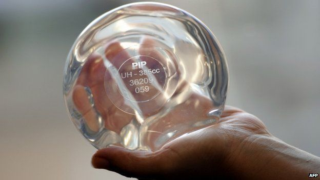 A PIP breast implant (file image)