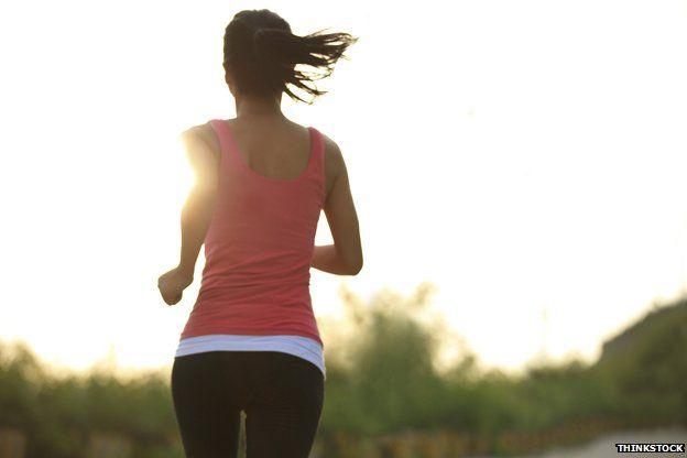 Runner in the sunrise