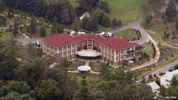An aerial view of the Golden Generation Worship and Retreat Center in rural Saylorsburg, Pennsylvania, July 2013