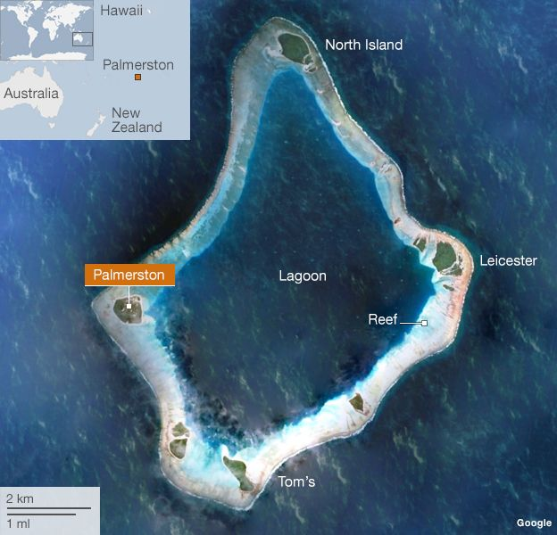 Map of Palmerston atoll