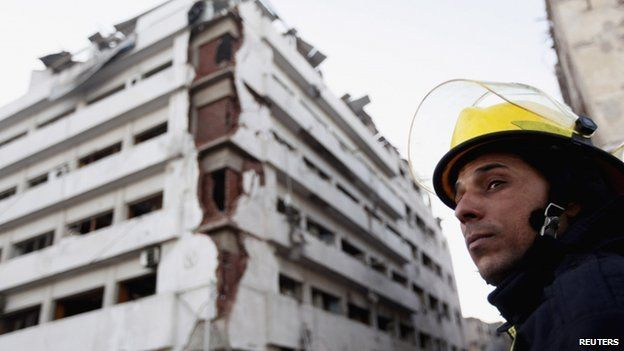 The building of Directorate of Security is pictured after explosion in Egypt's Nile Delta town of Dakahlyia